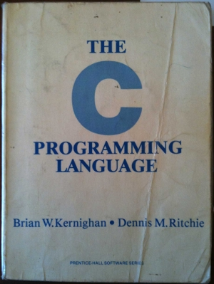 My copy of Dennis Ritchie's Book about C